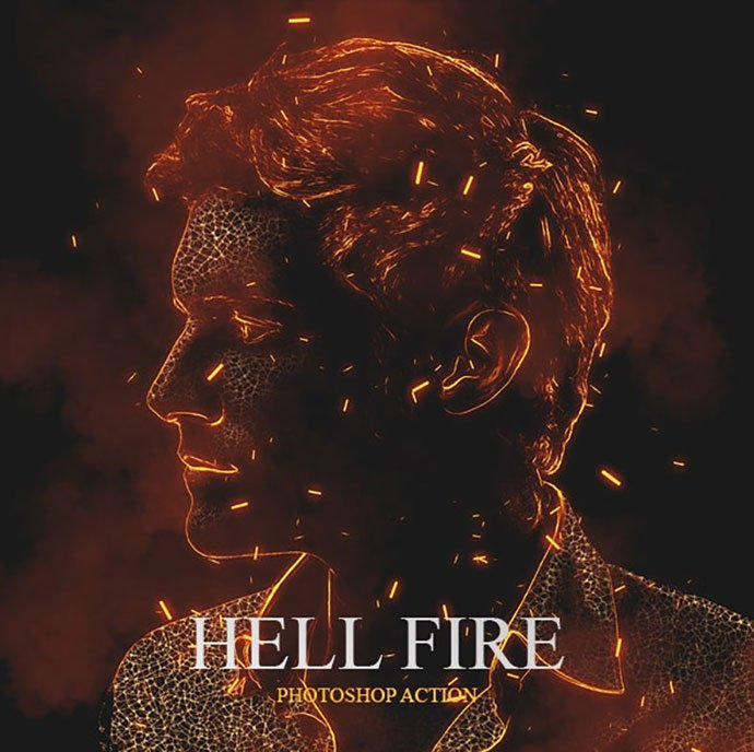 Hell-Fire-Photoshop-Action - 35+ Attractive Glow Effect Photoshop Actions
