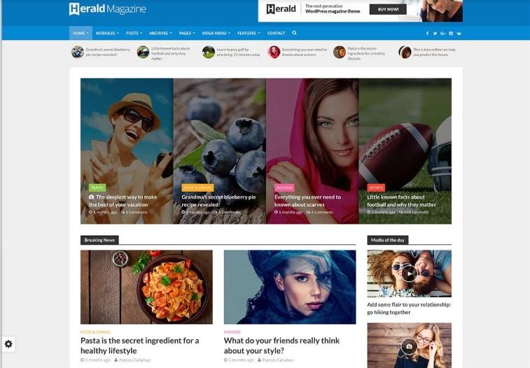 Herald - Top 60+ News Magazine WordPress Themes [year]