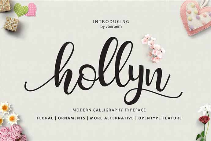 Hollyn-Script - 52+ Wonderful Fonts for Calligraphy Logo Design [year]