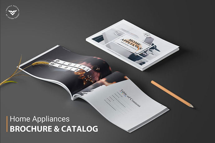 Home-Appliances-Brochure-Catalogue-Template - 35+ Best Interior & Furniture Catalog Templates [year]