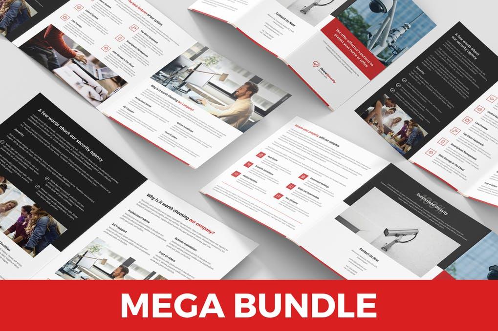 Home-Security-–-Brochures-Bundle-4-in-1 - 60+ Bi-fold & Tri-fold Brochure Design Templates [year]