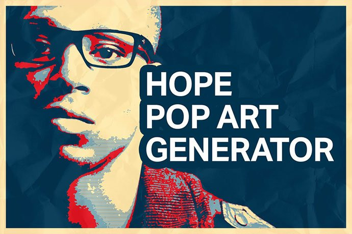 Hope-Pop-Art-Generator - 30+ Comic Style Photoshop Actions [year]