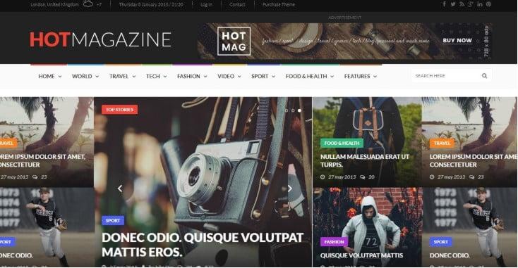 Hotmagazine - 45+ Responsive News Website Templates [year]