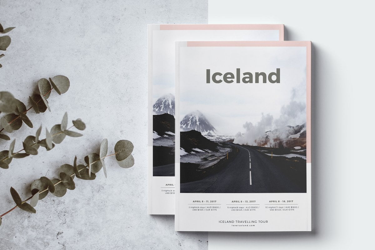 Iceland-Travel-Agency-Guide - 35 + Calm PSD & InDesign Travel Brochure Templates [year]