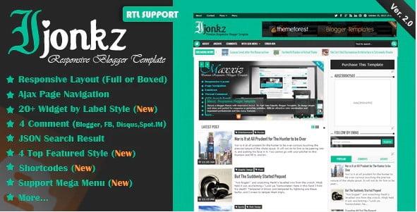 Ijonkz - 35+ Best Stunning Blogger One Page Template [year]