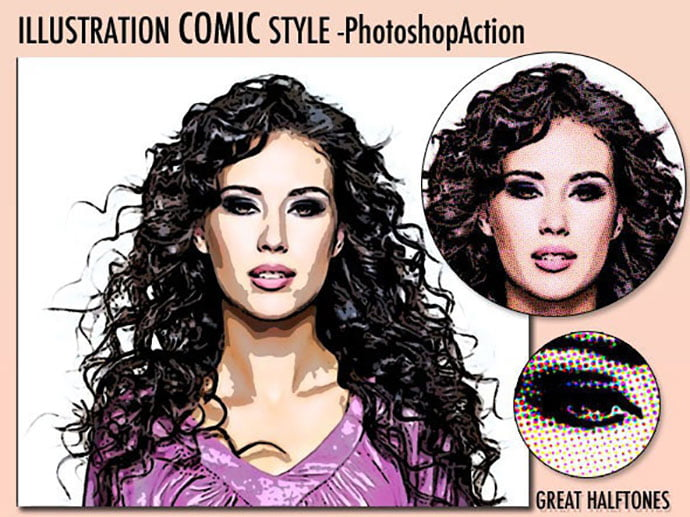 Illustration-Comic-Style - 30+ Comic Style Photoshop Actions [year]