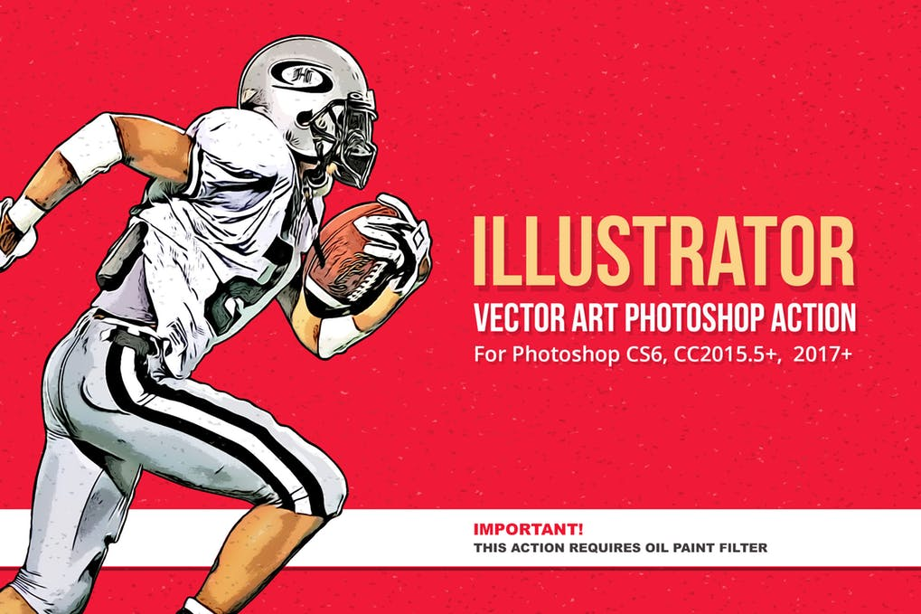 Illustrator-Vector-Art-Photoshop-Action-1 - 30+ Amazing Portrait Photoshop Actions [year]