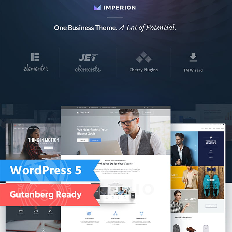 Imperion - 10+ Best WordPress Blog Themes For Your Website [year]
