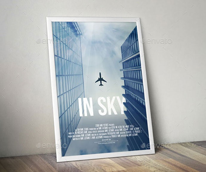 In-Sky - 35+ Nice PSD Movie Poster Design Templates [year]