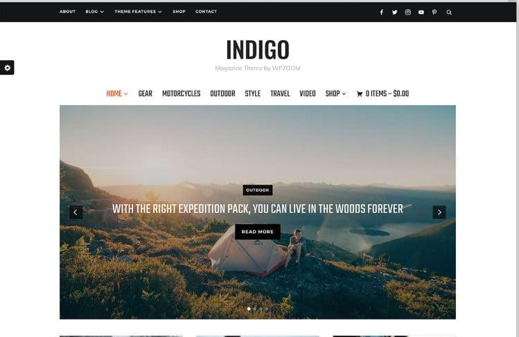 Indigo - Top 60+ News Magazine WordPress Themes [year]