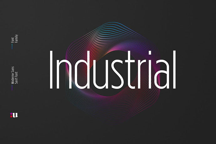 Industrial-Sans-Typeface - 35+ Effective Fonts for Brochure Design [year]