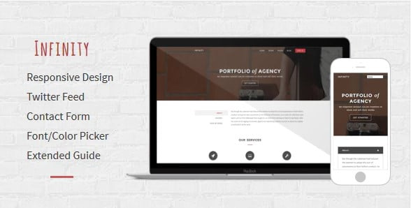 Infinity - 35+ Amazing One Page Inventive Blogger Template [year]