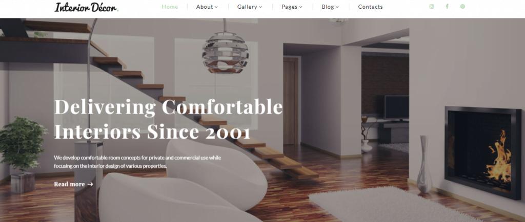Interior-Decor - 60+ HTML Interior & Furniture Website Templates [year]