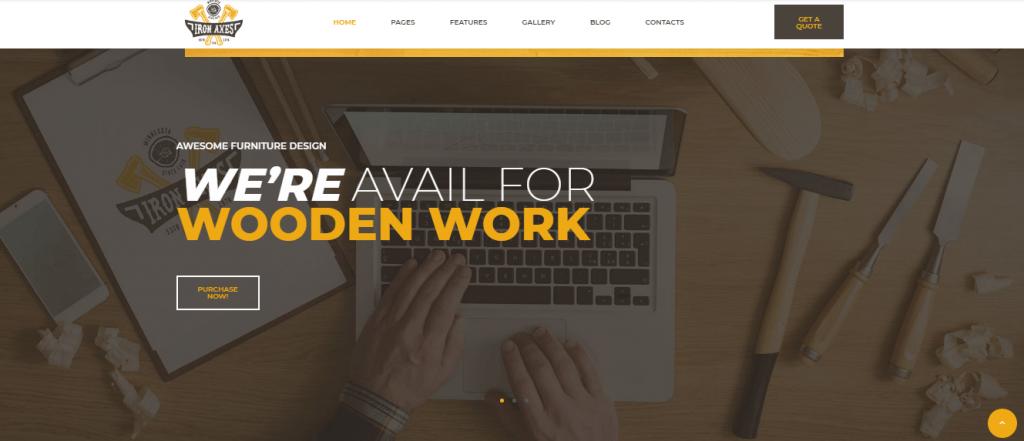 IronAxe - 60+ HTML Interior & Furniture Website Templates [year]
