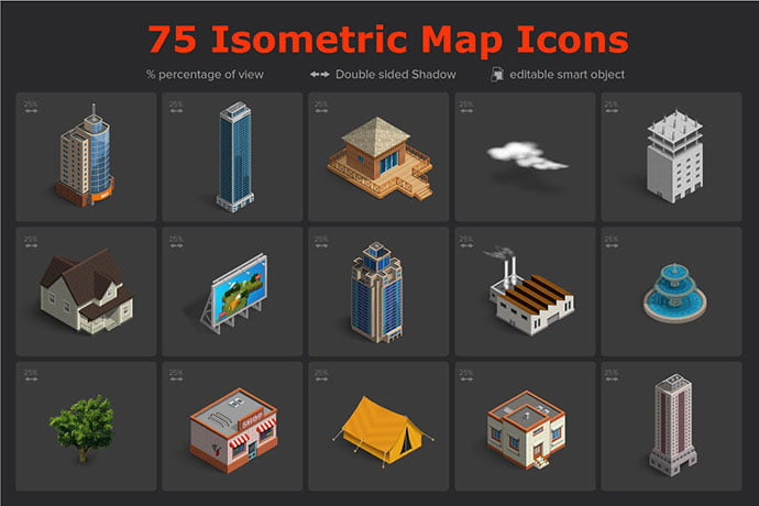 Isometric-Map-Icons - 35+ Fantastic Game Icon Sets [year]