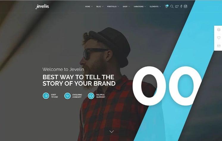 Jevelin - 38+ Shiny WordPress Themes for Designers [year]
