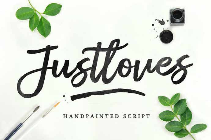 Justloves - 52+ Wonderful Fonts for Calligraphy Logo Design [year]