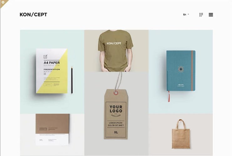 KONCEPT - 38+ Shiny WordPress Themes for Designers [year]