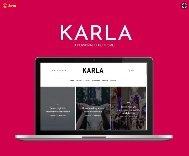 Karla - 35+ Best Stunning Blogger One Page Template [year]