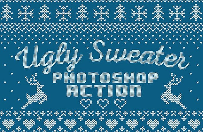 Knitted-Ugly-Sweater - 30+ Embroidery Effect Photoshop Actions & Brushes