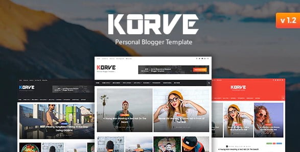 Korve - 35+ Amazing One Page Inventive Blogger Template [year]