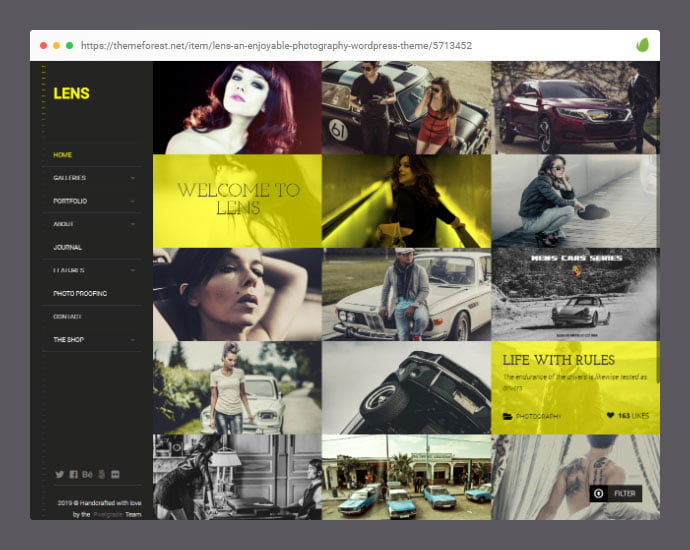 LENS - 30+ WordPress Themes with Stunning Page Transition [year]