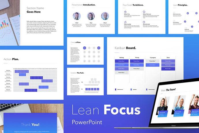 Lean-Focus - 35+ Blast of Bright PowerPoint Templates [year]
