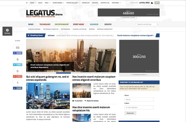 Legatus - Top 60+ News Magazine WordPress Themes [year]