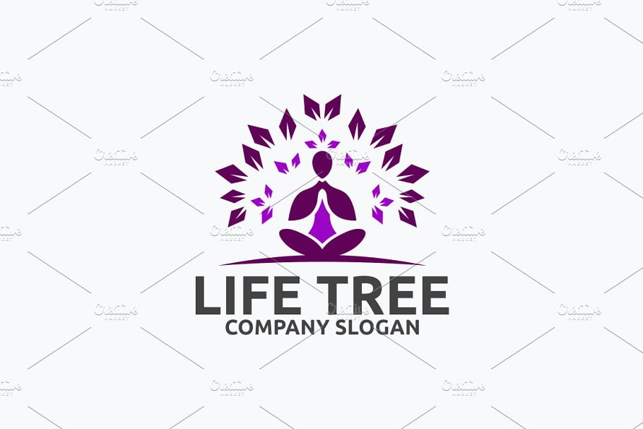 Life-Tree - 60+ Strong Tree Logo Design Templates [year]