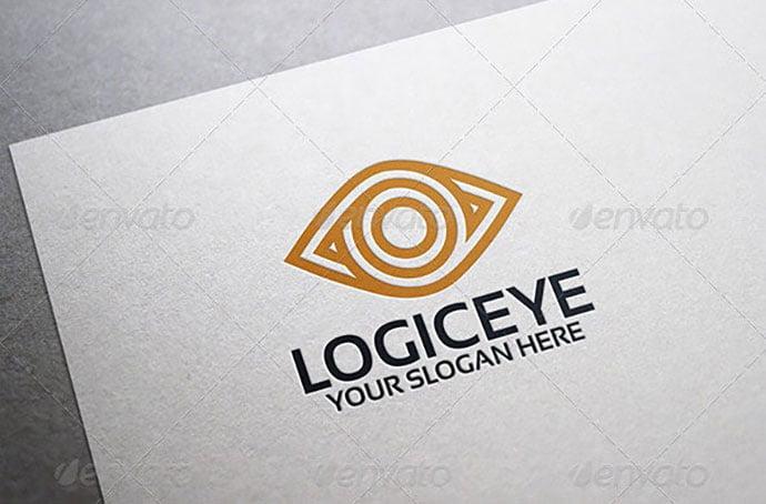 Logic-Eye-Logo-Template - 35+ Awesome Eye Logo Design Templates [year]