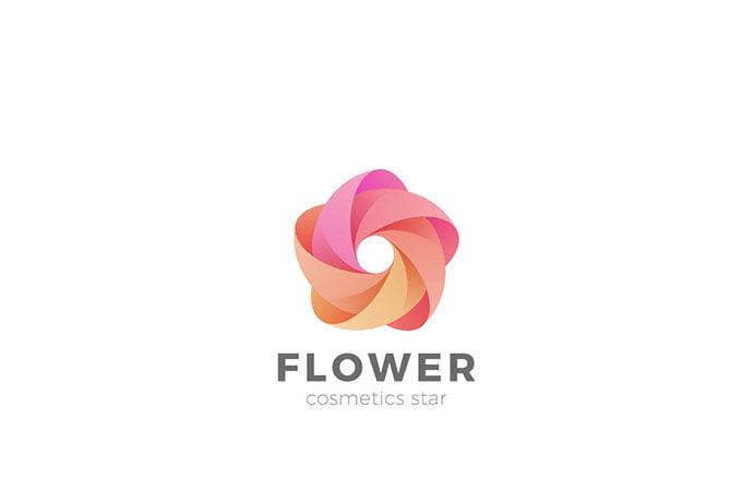 Logo-Flower-Star-Abstract-Looped-Infinity-1 - 50+ Stunning Beauty Salon Logo Design Templates [year]