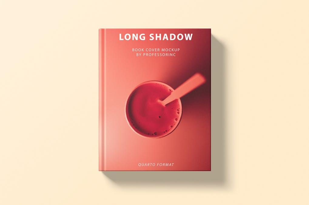 Long-Shadow-Book-Cover-Mockup - 35+ PSD Book Cover Mockup Templates