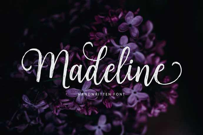Madeline - 52+ Wonderful Fonts for Calligraphy Logo Design [year]