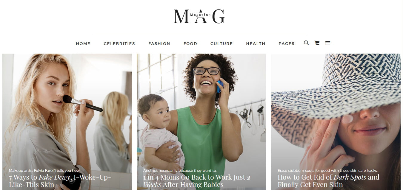Mag - 45+ Responsive News Website Templates [year]