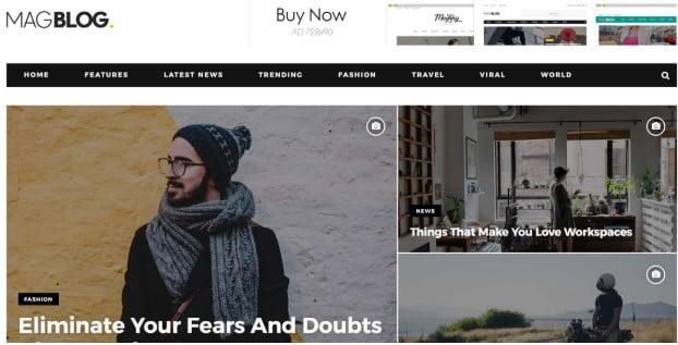 MagBlog - 45+ Responsive News Website Templates [year]