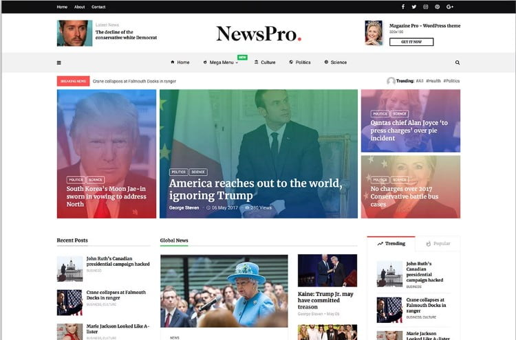 MagPlus-1 - 46+ Best WordPress Newspaper Themes for News Sites [year]