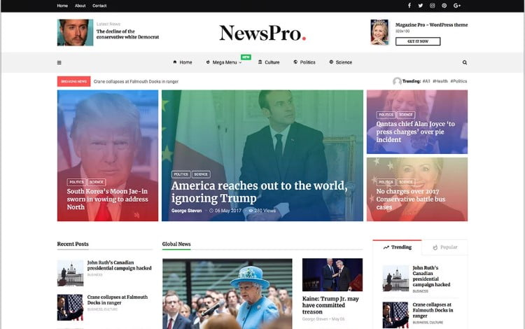 MagPlus - Top 60+ News Magazine WordPress Themes [year]