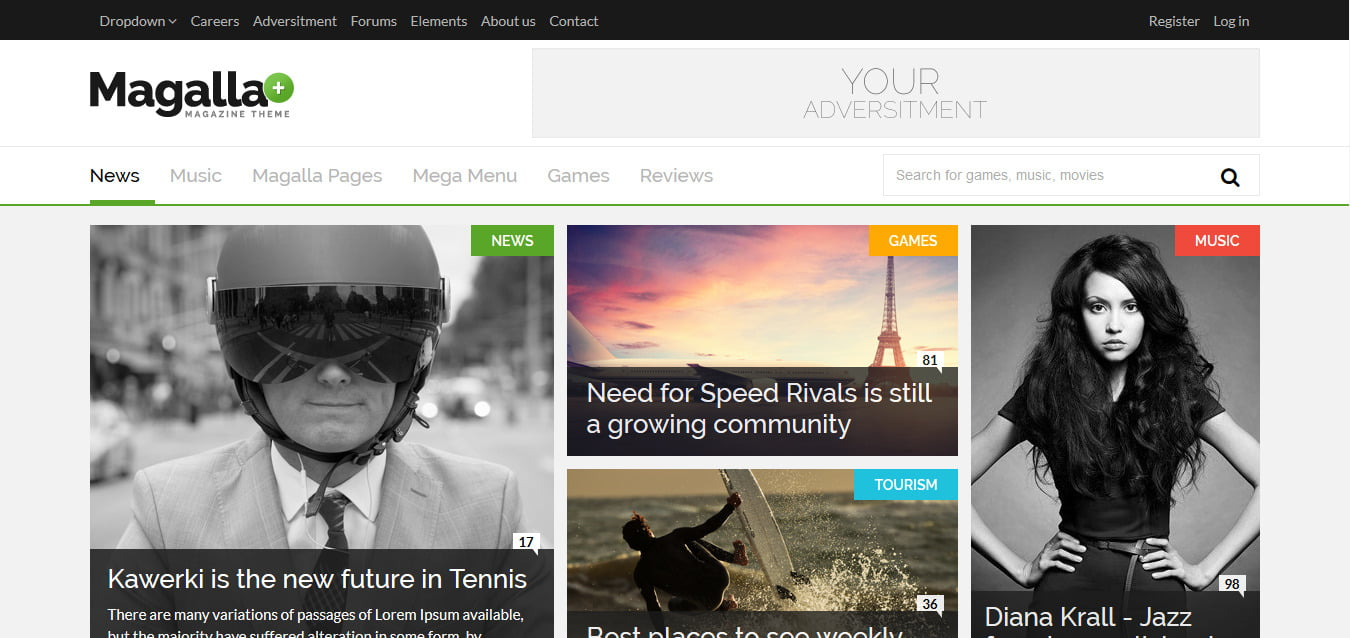 Magalla-Magazine - 45+ Responsive News Website Templates [year]