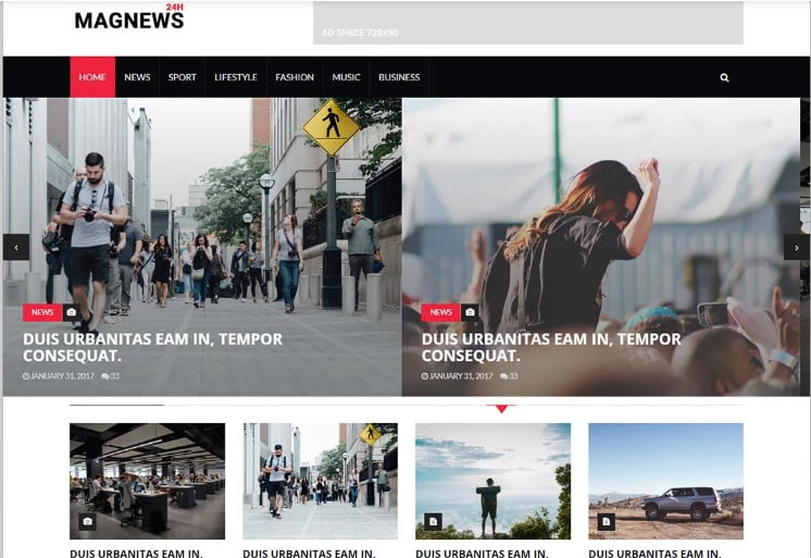 Magnews - 42+ Best Free News Website Templates [year]