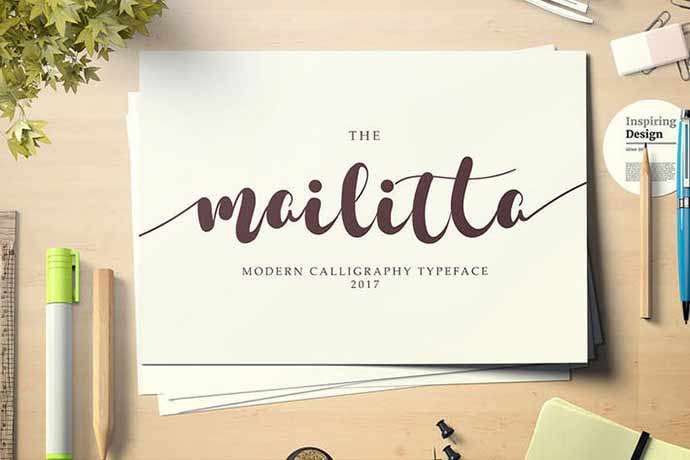 Mailitta-font-duo - 52+ Wonderful Fonts for Calligraphy Logo Design [year]