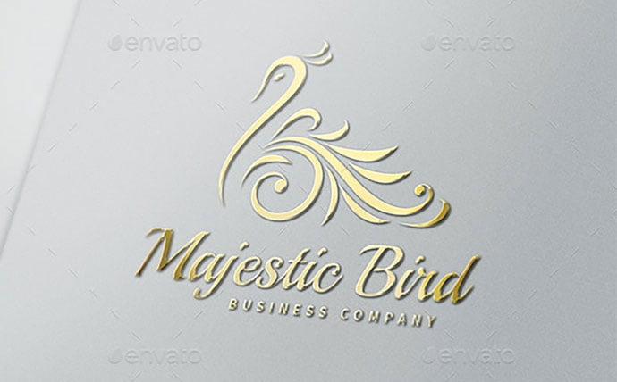 Majestic-Bird-Logo - 50+ Stunning Beauty Salon Logo Design Templates [year]