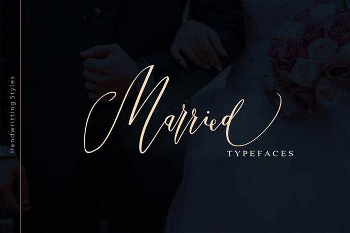 Married-TypefaceMarried-Typeface - 52+ Wonderful Fonts for Calligraphy Logo Design [year]