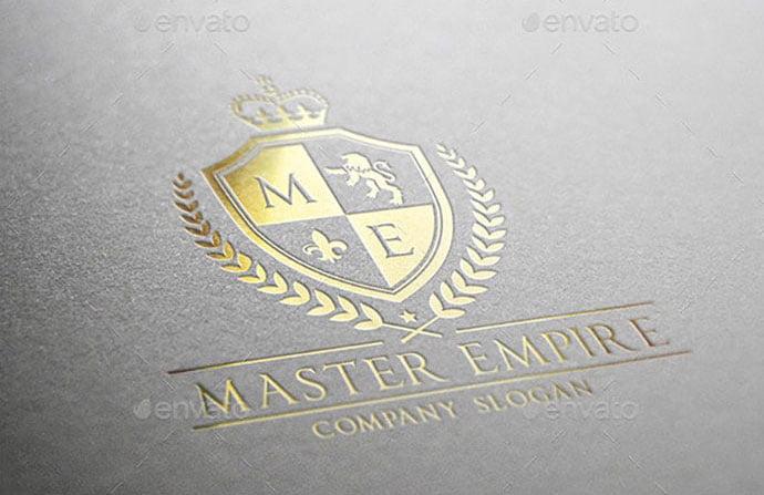 Master-Empire - 35+ Amazing Heraldry Logo Design Templates [year]