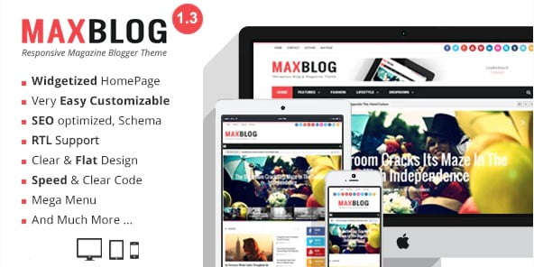 MaxBlog - 35+ Amazing One Page Inventive Blogger Template [year]