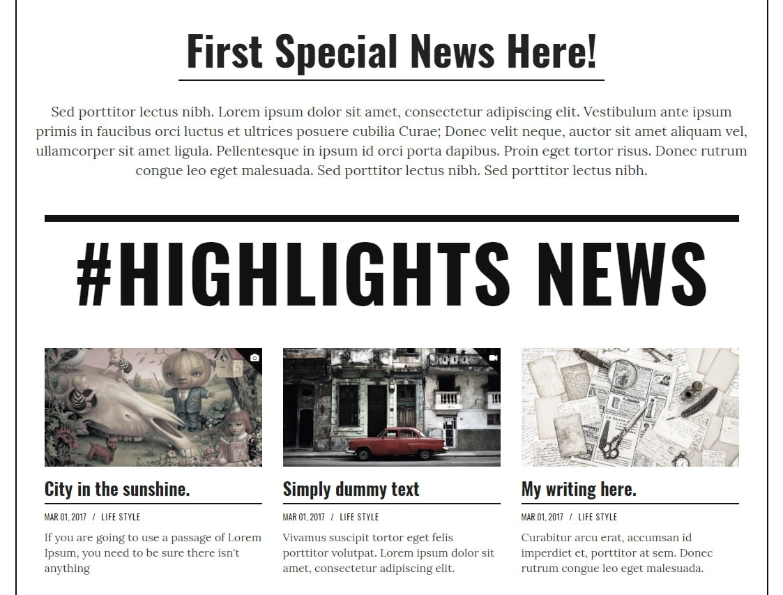 MazPage - 45+ Responsive News Website Templates [year]