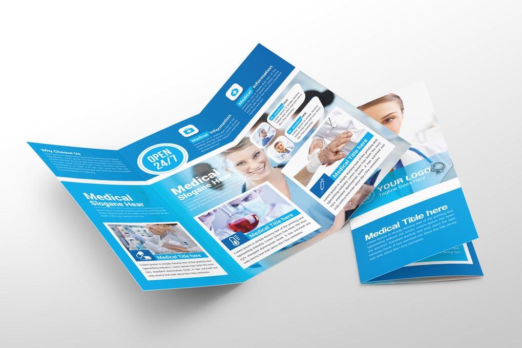 Medical-Trifold-Brochure - 60+ Bi-fold & Tri-fold Brochure Design Templates [year]