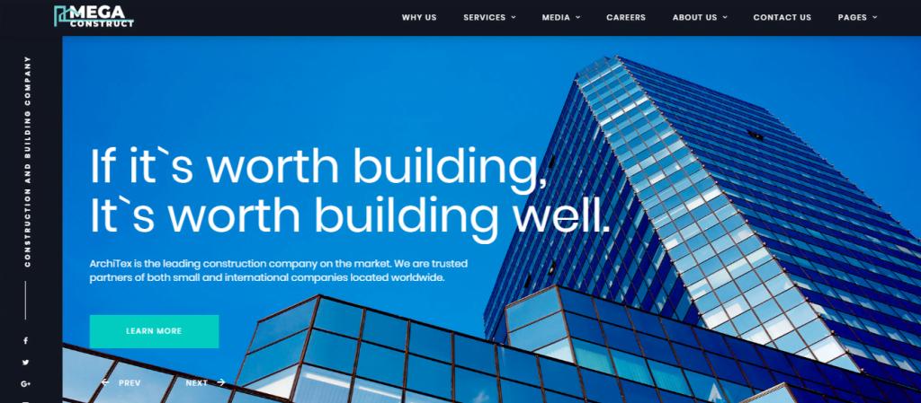 Mega-Construct-1 - 60+ HTML Interior & Furniture Website Templates [year]