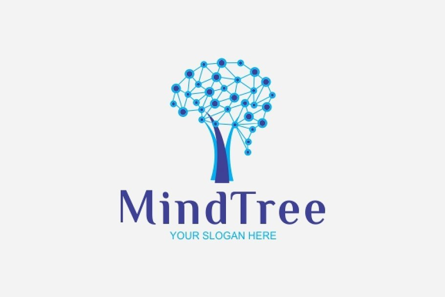 Mind-Tree - 60+ Strong Tree Logo Design Templates [year]