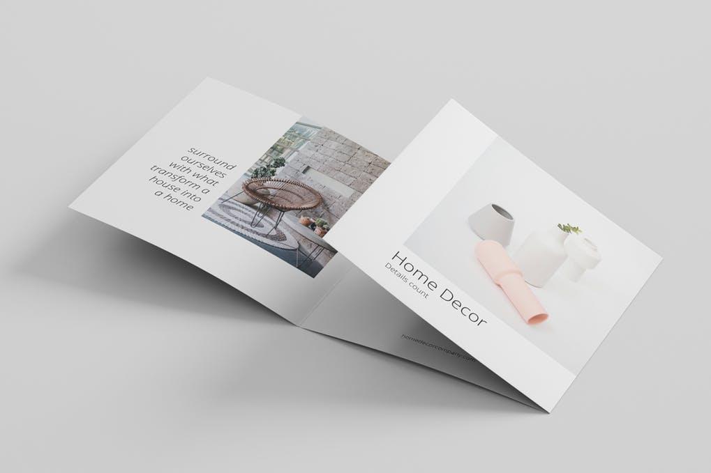 Minimal-Brochure-Template - 60+ Bi-fold & Tri-fold Brochure Design Templates [year]