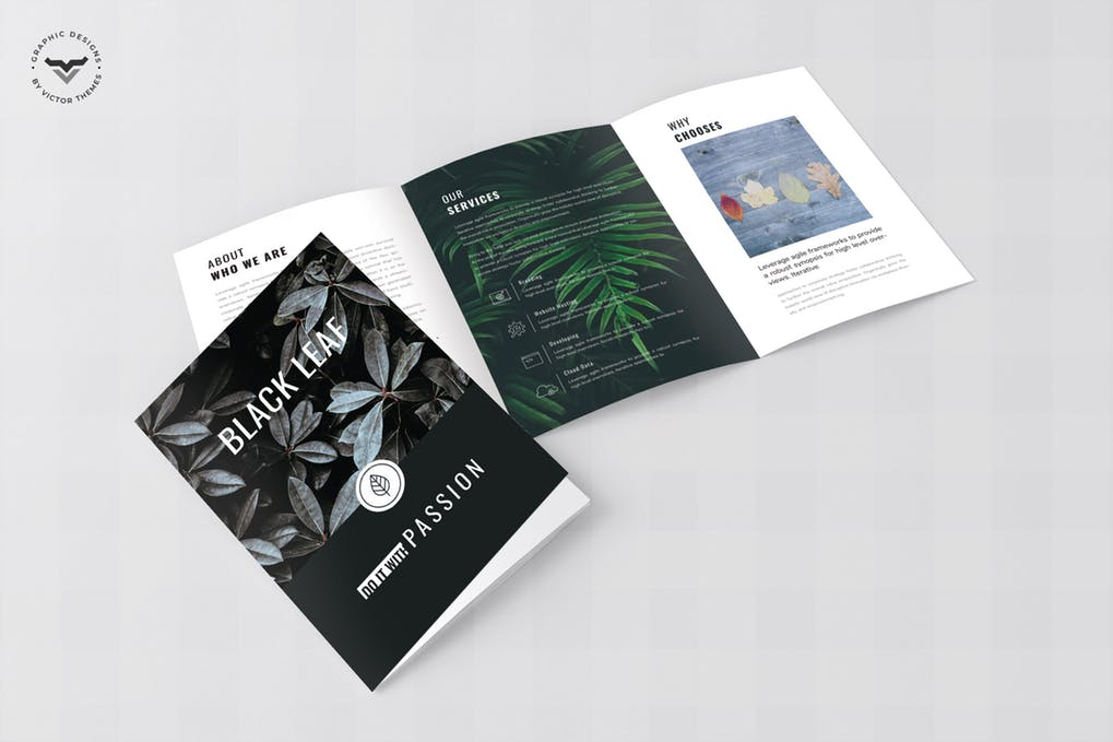 Minimal-Business-Tri-Fold-Brochure - 60+ Bi-fold & Tri-fold Brochure Design Templates [year]